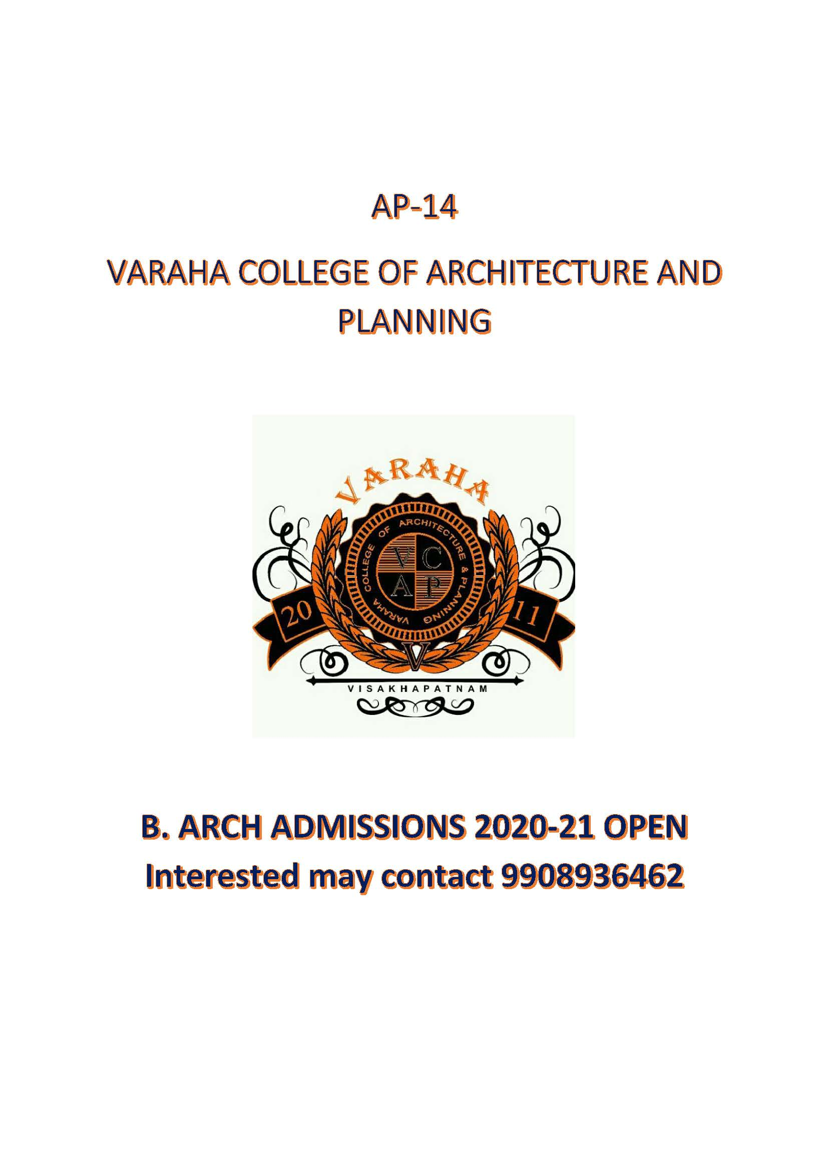 B.Architecture Admissions
